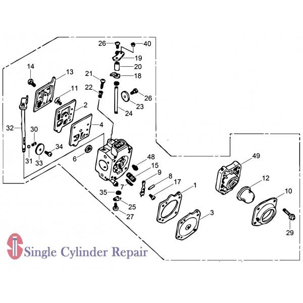 Wacker Neuson 5100015802 Carburetor Assembly