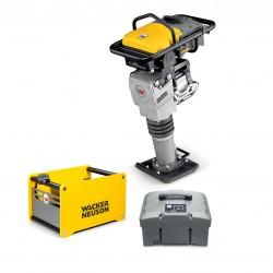 "Wacker AS50e Vibratory Rammer 11"" PLASTIC SHOE, 2 BATTERIES & CHARGER 5100056454"