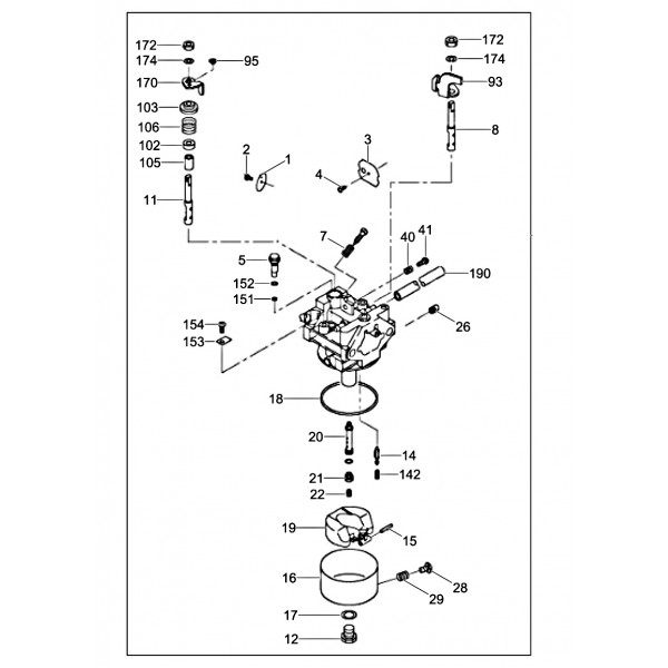 Wacker Neuson  5200016200  Carburetor Assembly