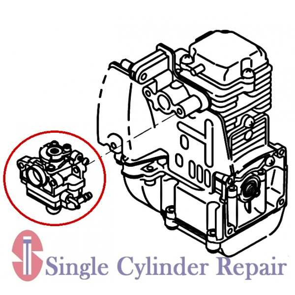 Wacker Neuson 5200019723 Carburetor Assembly