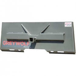"""GreyWolf 1061.GRY Skid Steer 2"""" Receiver Hitch Plate"""