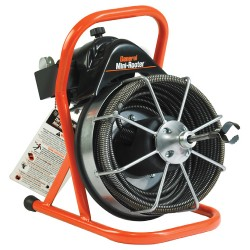 """General Pipe Cleaners 111380.GEN Mini-Rooter w/50'x1/2"""" Cable, MRCS cutter set"""