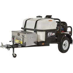 NorthStar 157595  Trailer-Mounted Hot Water Commercial Pressure Washer, 4000 PSI, 4.0 GPM, Honda GX630