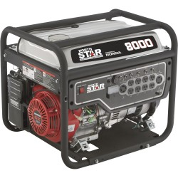 NorthStar 165603 Generator 8000W Surge, 6600W Rated, Recoil