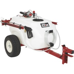 NorthStar 282585 41-Gallon Capacity, 4.0 GPM, 12V DC Tow-Behind Trailer Boom Broadcast and Spot Sprayer