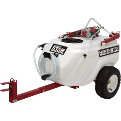 NorthStar 282780 21-Gallon Capacity, 2.2 GPM, 12 Volt DC Tow-Behind Trailer Boom Broadcast and Spot Sprayer
