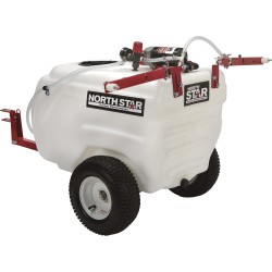 NorthStar 282785 31-Gallon Capacity, 2.2 GPM, 12 Volt DC Tow-Behind Trailer Boom Broadcast and Spot Sprayer