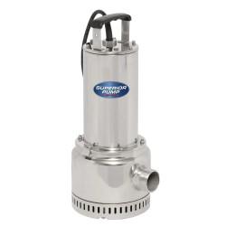 "Superior Pump  91197 Stainless 1 HP Steel Utility Pump, 1-1/2"" NPT Discharge"