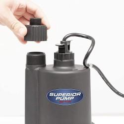 Superior Pump 91012 Utility Pump 12 Volt with 20 foot Cord