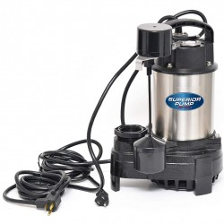 Superior Pump 92571 1/2 HP Stainless Steel and Cast Iron Sump Pump with Vertical Switch