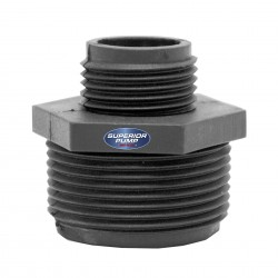 """Superior Pump 99005 Garden Hose Adaptor (for use with 1-1/4"""" NPT)"""