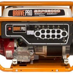 Brave 8000 Watt Generator Honda 389cc 120/240AC / 12V DC BRPG8000