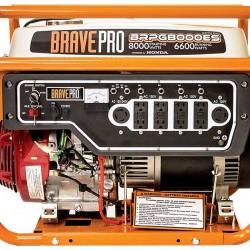 Brave 8,000 Watt Generator Honda 389cc 120/240AC / 12V DC BRPG8000ES