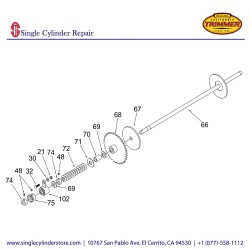 California Trimmer 20301-A DRIVE SHAFT ASS'Y, 20""