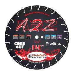 Diamond Products A2Z Vacuum Bonded High Speed Specialty Blades