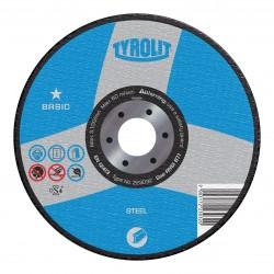 "TYROLIT 34301855 7"" x 1/8"" x 5/8""BASIC Portable Electric Saw Wheels for Steel"