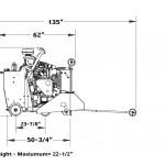 Diamond Products CC6571D Single Speed Diesel Liquip Cooled Walk Behind Saw