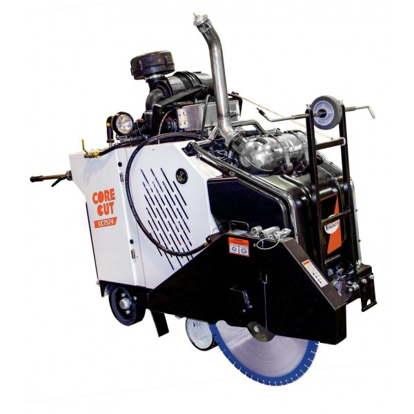 Diamond Products CC7574DD-3 3-Speed In-line Diesel Walk Behind Saw - 74 HP