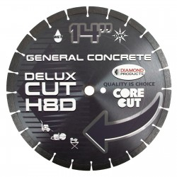 Diamond Products Delux-Cut High Speed Diamond Blades For Asphalt, green concrete, brick and block