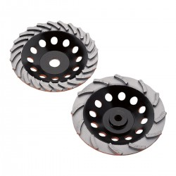 Diamond Products Heavy Duty Orange Spiral Turbo Cup Grinders
