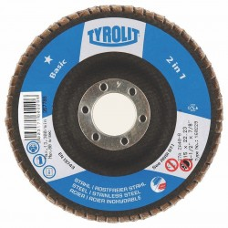 TYROLIT BASIC 2 in 1 Zirconia Flap Discs for Steel and Stainless Steel Type 27