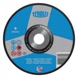 "TYROLIT 34331624 4-1/2"" x .040 x 7/8""  BASIC Wheels for INOX, Steel & Stainless Steel Type 27"