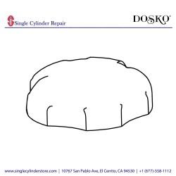 DOSKO 784769 SEALED FUEL CAP - PW/GN