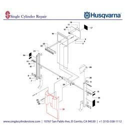 Husqvarna COVER, CONSOLE 502289101