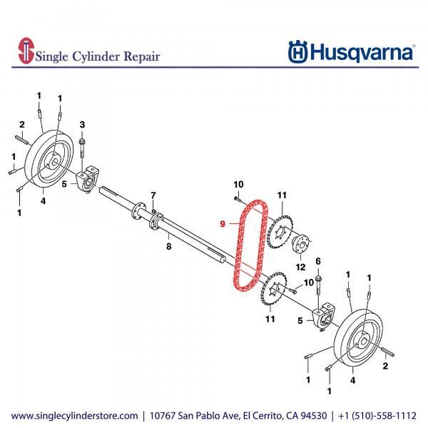 Husqvarna CHAIN, ROLLER #40 65P + CL 590091601