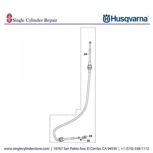 Husqvarna CABLE ASSY PUSH/PULL 593923401