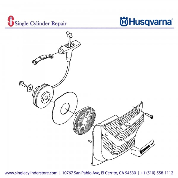 Husqvarna STARTER ASSY, K1270 506275510