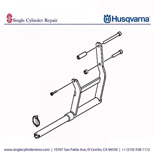 Husqvarna Pipe clamp adapter, K 6500 Ring 590708802