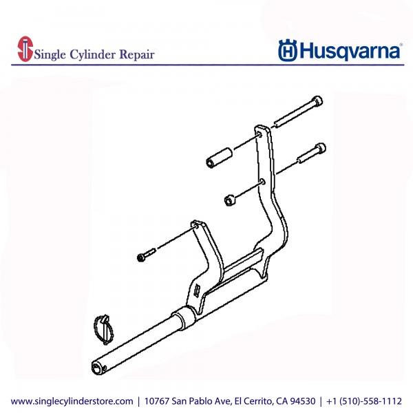 Husqvarna Pipe clamp adapter, K 970 Ring 590708803