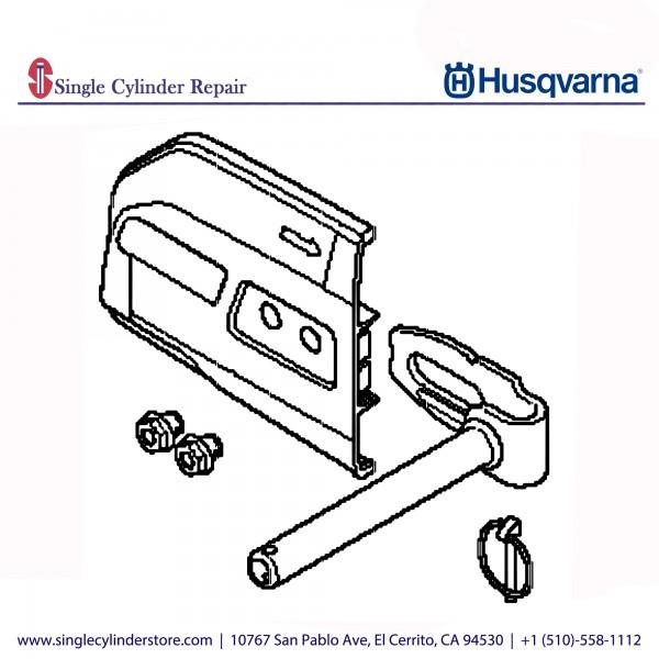 Husqvarna Pipe clamp adapter, K 970 Chain 593368701