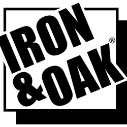 Iron & Oak Log Cradle 790562