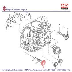 Multiquip 01242000 Gear Wheel