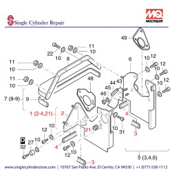 Multiquip 01246220 Cooling Air Duct Assy