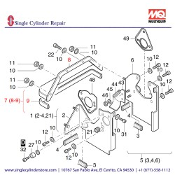 Multiquip 01246600 Cooling Air Duct Assy