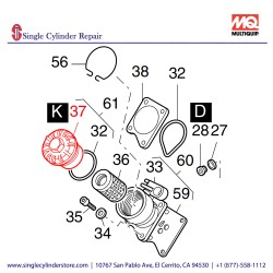 Multiquip 01248901 Cover Oil Filter