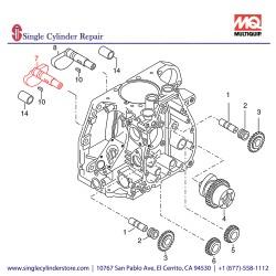 Multiquip 01267300 Shaft Pump Side