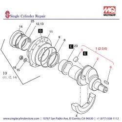 Multiquip 01269820 Crankshaft