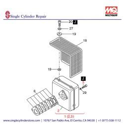 Multiquip 01498803 Exhaust Silencer