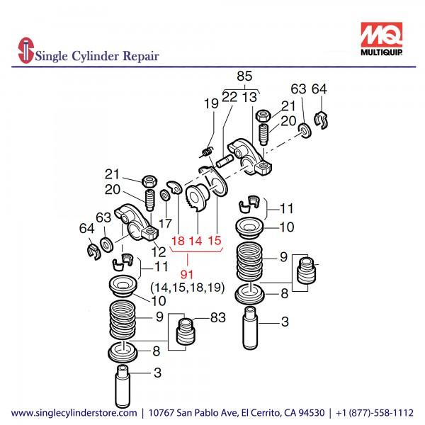 Multiquip 01557600 Gearwheel F Decompressor