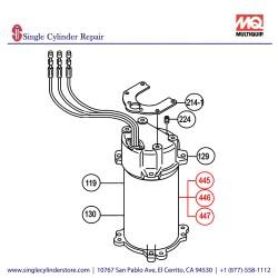 Multiquip 0201503A447 Centrifugal Switch