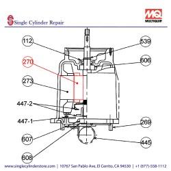 Multiquip 0202005A270 Rotor Motor