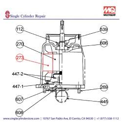 Multiquip 0202005A273 Stator Motor