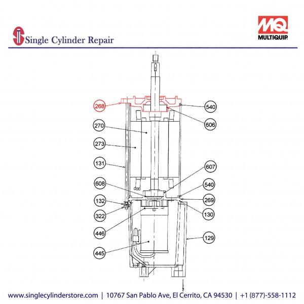 Multiquip 0202020B268 Motor A Bracket