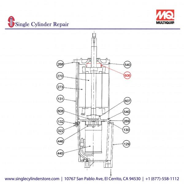 Multiquip 0202020B606 Bearing A Motor