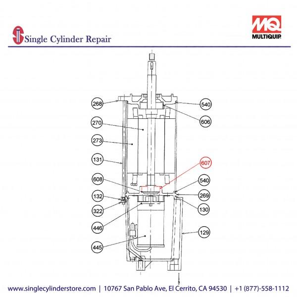 Multiquip 0202020B607 Bearing A Motor