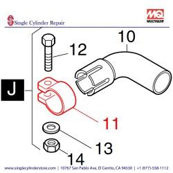 Multiquip 03877700 Clip Pipe